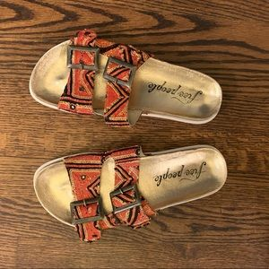 Free People beaded sandals Sz 41